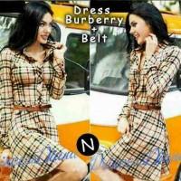harga J 5996-dress Burberry+belt Tokopedia.com