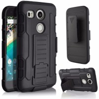 Lg Nexus 5x Military Armor Hybrid Fundas 3 In 1 With Belt Clip Stand