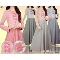 Gamis Hiasan Pita / Baju Pesta Muslim / Gamis Modern / Dress Muslimah