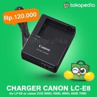 harga Charger Canon LC-E8E LC-E8 Baterai LP-E8   500D 550D 600D 650D 700D Tokopedia.com