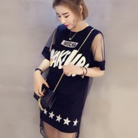 dress model casual simple style black impor
