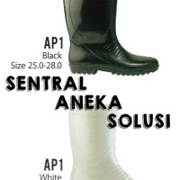 Ap Boots I Ap 1 Black & White Series Boot Sol Full Hitam Black