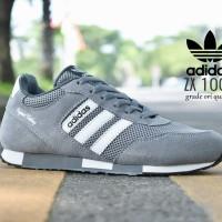 Sepatu Sport Adidas ZX 1000 Grade Ori / Abu Putih / kets casual pria