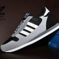 Sepatu Adidas ZX 1000 Grade Ori / Abu Hitam / sport casual pria