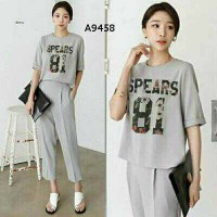Setelan Spears 81 Grey Abu