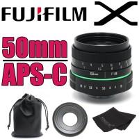 50mm F1.8 APS-C CCTV Camera Lens Green Circle Fujifilm X FX