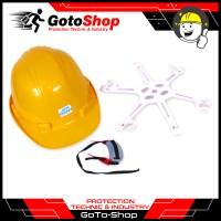 Helm Proyek Topi JSW Kerja Keamanan Safety Helmet Full Set Tali Dagu
