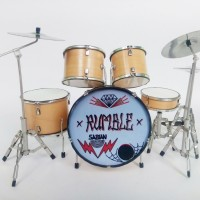 Mainan Miniatur Drum Set Jerinx Superman is Dead SID 'Rumble'