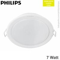 Lampu Downlight  LED Philips 7W Warm White 9202 Meson 7Watt
