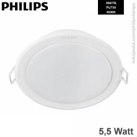 Lampu Downlight LED Philips 5,5W 59201 Meson Putih White 5,5 W
