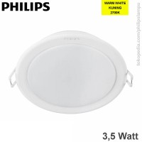 Lampu Downlight LED Philips 3,5W 59200 Meson Warm White Kuning 3,5 W