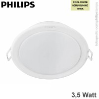 Lampu Downlight LED Philips 3,5W 59200 Meson Cool White Semu Kuning