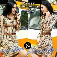 harga 5996-dress Burberry+belt Dres+belt (katun) L Besar,pj 92cm,ld100cm Tokopedia.com