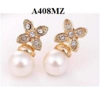 harga Anting Mutiara kristal, A40 (kalung bros cincin gelang xuping) Tokopedia.com