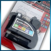 Gembok Cakram Motor Dengan Alarm (Kunci Gembok + Alarm Cakram Motor)