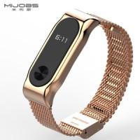 Jual MIJOBS Stainless Steel Milanese Strap Metal Bracelet Mi Band 2 Murah