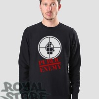Jaket / Zipper / Hoodie / Sweater Public Enemy - Hitam