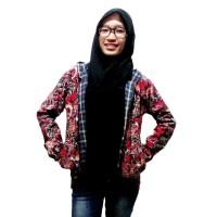 Jaket Batik | Hoodie Batik | Jumper Wanita Nadia - Merah