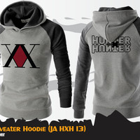 Sweater Hoodie Anime Hunter X HUnter Gray Sweater HXH