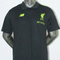 Kaos Polo Shirt Liverpool Hitam BetVictor GO 16/17