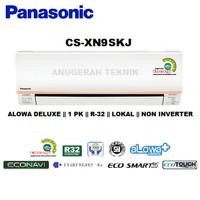 AC SPLIT PANASONIC 1 PK 1PK R32 ALOWA DELUXE NON INVERTER - XN9SKJ