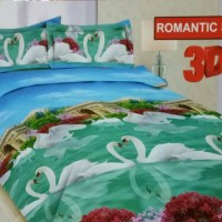 BED COVER SET BONITA 3D 180X200 ROMANTIC SWAN/BEDCOVER SET/BADCOVER