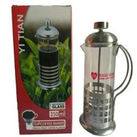 Tea & Coffee Maker Glass / French Press Coffe Pluger Plunger 350 ml