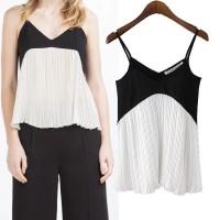 Baju Wanita HitamPutih Color Size(L)Terbaru/Model/Imut/Bermerk 40803