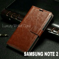 Luxury Wallet Case For Samsung Note 2 / Flip Cover Leather Case