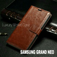 Luxury Wallet Case For Samsung Grand Neo / Flip Cover Leather Case