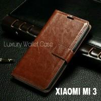 Luxury Wallet Case For Xiaomi Mi 3 Flip Cover Leather Case Xiaomi Mi3