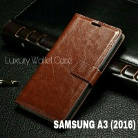 Luxury Wallet Case For Samsung A3 (2016) / Flip Cover Leather Case