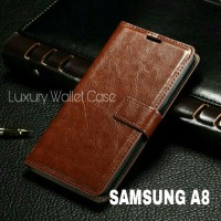 Luxury Wallet Case For Samsung A8 / Flip Cover Leather Case Samsung A8