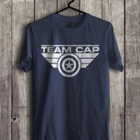 Jual Kaos TEAM CAP CAPTAIN AMERICA civil war avengers marvel (S - XXL) Murah