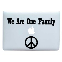 Tokomonster Decal Sticker We Are One Big Family Macbook Pro and Air