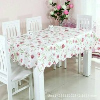 Taplak Meja Bunga Pink, Alas Meja, Meja Makan, Perlengkapan Rumah
