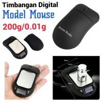 Timbangan Digital Saku Perhiasan Emas Unik model Mouse 200g/0.01g
