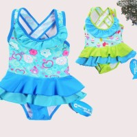 baju renang anak perempuan import branded swimsuit girl flower cake