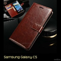 Samsung Galaxy C5 Retro PU Leather Flipcase Luxury Wallet Cover