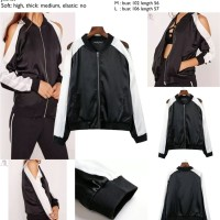 harga Black White Silky Jacket (s,m,l) - 42002 Tokopedia.com