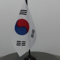 BENDERA MEJA KOREA SELATAN / SOUTH KOREA | Pajangan Rumah Kantor Unik