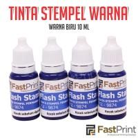 Tinta Stempel Flash Fast Print Warna Biru (Blue Ink) 10ml