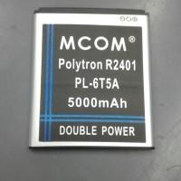 Baterai polytron R2401 Rocket 2x kode PL-6T5A mcom