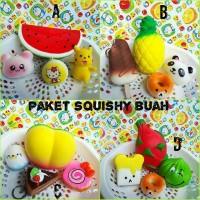 Jual Paket Squishy Buah Jumbo/Peach/Semangka/Buah Naga/Nanas/Squishy Ibloom - Chokobi Tokopedia