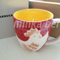 Jual The Year of the Rooster Red CNY Mug 12 Oz Starbucks Cup Murah