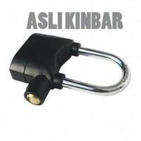 Jual Gembok Alarm Kinbar sepeda motor/ gembok anti maling pintu pagar rumah Murah