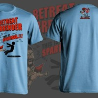 "Limited Edition Silver Warrior ""THIS IS SPARTA"" T-shirt"