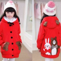 [Kid Funny Merah LO] jaket anak babyterry merah