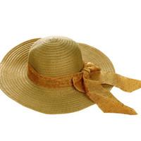 Jual Topi Pantai Polkadot Pita Murah