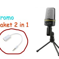 Smooth Microphone 3.5 Jack With Holder bonus Splitter Audio